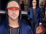 Los Angeles, CA - Actor, Ryan Gosling, makes a sexy touchdown at LAX airport. He was wearing a blue jacket, charcoal tee, black pants, and gray shoes and was carrying a tan leather duffel bag.\nAKM-GSI          April 17, 2015\nTo License These Photos, Please Contact :\nSteve Ginsburg\n(310) 505-8447\n(323) 423-9397\nsteve@akmgsi.com\nsales@akmgsi.com\nor\nMaria Buda\n(917) 242-1505\nmbuda@akmgsi.com\nginsburgspalyinc@gmail.com
