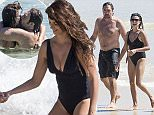 """PENELOPE CRUZ AND HUSBAND JAVIER BARDEM ENJOY A DAY AT THE BEACH WITH THEIR CHILDREN LEONARDO AND LUNA, IN AUSTRALIA. THE FAMILY, WHO ARE IN AUSTRALIA WHILE JAVIER BARDEM FILMS THE NEW """"PIRATES OF THE CARIBBEAN"""" MOVIE, ARE TAKING A BREAK FROM WORK. THE FAMILY ARE ENJOYING A VACATION AT AUSTRALIA'S EXCLUSIVE BEACH SIDE LOCATION BYRON BAY, VERY POPULAR WITH CELEBRITIES. EXCLUSIVE 8 April 2015 ©MEDIA-MODE.COM"""