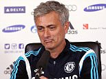 Football - Chelsea - Jose Mourinho Press Conference - Chelsea Training Ground - 17/4/15  Chelsea manager Jose Mourinho during the press conference  Action Images via Reuters / Matthew Childs  Livepic  EDITORIAL USE ONLY.