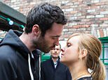 FROM ITV\n\nSTRICT EMBARGO - No Use before Sunday 19 April 2015 \n\nCoronation Street - Ep 8628\n\nWednesday 29 April 2014\n\nWhen Callum Logan [SEAN WARD] buys Bethany a new phone, Sarah Platt [TINA O'BRIEN] worries about how she will explain the new phone to David; but when Callum follows her out into the Rovers backyard, Sarah can¿t resist and they kiss passionately - only to be caught in the act by Nick Tilsley [BEN PRICE]! \n\nPicture contact: david.crook@itv.com on 0161 952 6214\n\nPhotographer - Mark Bruce\n\nThis photograph is (C) ITV Plc and can only be reproduced for editorial purposes directly in connection with the programme or event mentioned above, or ITV plc. Once made available by ITV plc Picture Desk, this photograph can be reproduced once only up until the transmission [TX] date and no reproduction fee will be charged. Any subsequent usage may incur a fee. This photograph must not be manipulated [excluding basic cropping] in a manner which alters the visual appearan