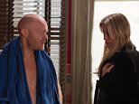WARNING: Embargoed for publication until 21/04/2015 - Programme Name: EastEnders - TX: 27/04/2015 - Episode: 5057 (No. n/a) - Picture Shows: Karin tells a stunned Max to get rid of the cars as the police are on their way to him.  Max Branning (JAKE WOOD), Karin Smart (DENISE VAN OUTEN) - (C) BBC - Photographer: Jack Barnes