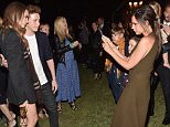 """LOS ANGELES, CA - APRIL 16:  (L-R) Brooklyn Beckham, Romeo Beckham and Cruz Beckham attend the Burberry """"London in Los Angeles"""" event at Griffith Observatory on April 16, 2015 in Los Angeles, California.  (Photo by Jeff Vespa/Getty Images for Burberry)"""