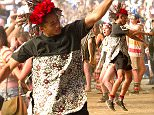 135820, Jaden Smith wears a flower-band on his head as he attends the Coachella Music Festival in Indio. The actor was seen mounting the shoulders of a friend at a concert and dancing around wildly in the crowd. Indio, California - Friday April 17, 2015. Photograph: © PacificCoastNews. Los Angeles Office: +1 310.822.0419 sales@pacificcoastnews.com FEE MUST BE AGREED PRIOR TO USAGE