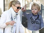 Picture Shows: Fergie, Fergie Duhamel, Stacy Ferguson, Axl Duhamel  April 17, 2015\n \n Pop star Fergie is seen leaving the park in Brentwood, California after enjoying some family time with her son Axl. Fergie dressed casually in a cream scarf, a white sweater, cream trousers and matching sneakers.\n \n Non-Exclusive\n UK RIGHTS ONLY\n \n Pictures by : FameFlynet UK © 2015\n Tel : +44 (0)20 3551 5049\n Email : info@fameflynet.uk.com