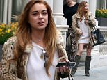 EXCLUSIVE: Lindsay Lohan Spoted Leaving The Conaught Hotel London  Pictured: Lindsay Lohan Ref: SPL996011  170415   EXCLUSIVE Picture by: JJ / Splash News  Splash News and Pictures Los Angeles: 310-821-2666 New York: 212-619-2666 London: 870-934-2666 photodesk@splashnews.com