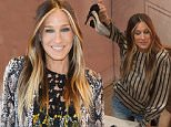 LAS VEGAS, NV - APRIL 16:  Sarah Jessica Parker launches SJP Pop-Up with Zappos Couture in The Shops at Crystals at Aria Las Vegas on April 16, 2015 in Las Vegas, Nevada. (Photo by Denise Truscello/Getty Images for Zappos Couture)