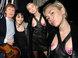 CLEVELAND, OH - APRIL 18:  Joan Jett and Miley Cyrus attend the 30th Annual Rock And Roll Hall Of Fame Induction Ceremony at Public Hall on April 18, 2015 in Cleveland, Ohio.  (Photo by Kevin Mazur/WireImage for Rock and Roll Hall of Fame)