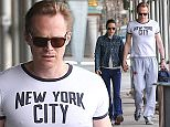 Picture Shows: Jennifer Connelly, Paul Bettany  April 15, 2015    Couple Jennifer Connelly and Paul Bettany seen walking hand in hand in New York City, New York. The couple were returning from a gym after their work out.     Non-Exclusive  UK RIGHTS ONLY    Pictures by : FameFlynet UK © 2015  Tel : +44 (0)20 3551 5049  Email : info@fameflynet.uk.com