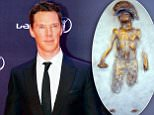 Embargoed to 0001 Sunday April 19\nUndated handout photo issued by Leontia Gallery of a gold sculpture by celebrity artist Schoony that has been purchased by actor Benedict Cumberbatch. PRESS ASSOCIATION Photo. Issue date: Sunday April 19, 2015. The Imitation Game star paid £7,000 to commission his artist pal to reproduce a sculpture that appeared in Hollywood blockbuster Kick Ass 2. See PA story SHOWBIZ Cumberbatch. Photo credit should read: Schoony/Leontia Gallery/PA Wire\nNOTE TO EDITORS: This handout photo may only be used in for editorial reporting purposes for the contemporaneous illustration of events, things or the people in the image or facts mentioned in the caption. Reuse of the picture may require further permission from the copyright holder.