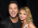 ARLINGTON, TX - APRIL 19:  Host Luke Bryan (L) and honoree Miranda Lambert pose backstage during the 50th Academy Of Country Music Awards at AT&T Stadium on April 19, 2015 in Arlington, Texas.  (Photo by Rick Diamond/ACM2015/Getty Images for dcp)