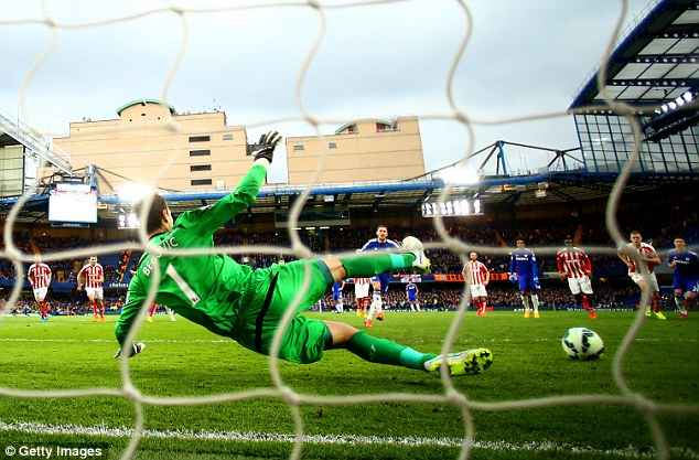 The Belgian international gave Chelsea the lead from the spot and made no mistake against Asmir Begovic