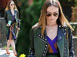 Olivia Wilde rocks a motorcycle jacket while leaving her house in Brooklyn, NYC on April 18, 2015.\n\nPictured: Olivia Wilde\nRef: SPL1003453  180415  \nPicture by: Splash News\n\nSplash News and Pictures\nLos Angeles: 310-821-2666\nNew York: 212-619-2666\nLondon: 870-934-2666\nphotodesk@splashnews.com\n