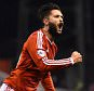 NOTTINGHAM, ENGLAND - FEBRUARY 25: Henri Lansbury of Nottingham Forest roars with delight as he scores the second goal during the Sky Bet Championship match between Nottingham Forest and AFC Bournemouth at City Ground on February 25, 2015 in Nottingham, England.  (Photo by Laurence Griffiths/Getty Images)