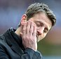 Aston Villa Manager, Tim Sherwood shows his disappointment at the awarding of the penalty