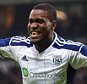 WEST BROMWICH, ENGLAND - FEBRUARY 14:  Brown Ideye of West Bromwich Albion (9) celebrates as he scores their third goal with a header during the FA Cup Fifth Round match between West Bromwich Albion and West Ham United at The Hawthorns on February 14, 2015 in West Bromwich, England.  (Photo by Michael Regan/Getty Images)