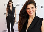 """Lake Bell attends the Tribeca Film Festival world premiere of """"Man Up"""" at the SVA Theatre on Sunday, April 19, 2015, in New York. (Photo by Andy Kropa/Invision/AP)"""