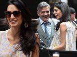 George Clooney and Amal Clooney on the set of Money Monster in NYC.\n\nPictured: George Clooney and Amal Clooney\nRef: SPL1002949  180415  \nPicture by: Ron Asadorian / Splash News\n\nSplash News and Pictures\nLos Angeles: 310-821-2666\nNew York: 212-619-2666\nLondon: 870-934-2666\nphotodesk@splashnews.com\n