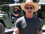 Picture Shows: Arnold Schwarzenegger  April 18, 2015\n \n Actor Arnold Schwarzenegger spotted out for lunch in Beverly Hills, California. Arnold just returned from a trip to Beijing, where he attended the opening of the Beijing Film Festival. He told the crowd, 'I'll Be Back' when referring to his trip back to Beijing to promote 'Terminator: Genisys'.\n \n Non-Exclusive\n UK RIGHTS ONLY\n \n Pictures by : FameFlynet UK © 2015\n Tel : +44 (0)20 3551 5049\n Email : info@fameflynet.uk.com