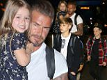 David Beckham and the kids at LAX  heading back to London after spending a month in the states  April 19, 2015  X17online.com