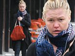 New York, NY - It appears that Julia Stiles may not be having such a great day as she was spotted looking barefaced and solemn as she ran errands on a cool NY afternoon.  The blonde beauty had her hair piled up atop her head in a high bun as she headed to a nail salon to get her manicure and pedicure. \nAKM-GSI       April 19, 2015\nTo License These Photos, Please Contact :\nSteve Ginsburg\n(310) 505-8447\n(323) 423-9397\nsteve@akmgsi.com\nsales@akmgsi.com\nor\nMaria Buda\n(917) 242-1505\nmbuda@akmgsi.com\nginsburgspalyinc@gmail.com
