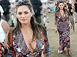 Kelly Brook is spotted on Day 2 of week 2 of the Coachella Music Festival in Indio, Ca\nPicture by: Quarterflash/Vantage News \n19 April 2015.\nPlease byline: Quarterflash/Vantagenews.co.uk