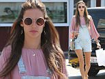 Brentwood, CA - Supermodel Alessandra Ambrosio shows off her long legs as she goes shopping at Brentwood Country Mart in a pair of overalls and a flowy peasant top.  The statuesque beauty let her hair down in a half ponytail as she walked back to her vehicle. \n  \nAKM-GSI      April 19, 2015\nTo License These Photos, Please Contact :\nSteve Ginsburg\n(310) 505-8447\n(323) 423-9397\nsteve@akmgsi.com\nsales@akmgsi.com\nor\nMaria Buda\n(917) 242-1505\nmbuda@akmgsi.com\nginsburgspalyinc@gmail.com