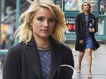 Dianna Agron seen wearing blue dress while out and about in the Tribeca neighbourhood of NYC.  Pictured: Dianna Agron Ref: SPL1004855  200415   Picture by: J. Webber / Splash News  Splash News and Pictures Los Angeles: 310-821-2666 New York: 212-619-2666 London: 870-934-2666 photodesk@splashnews.com