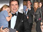 20.APRIL.2015 - NEW YORK - USA\nJOHN TRAVOLTA, KELLY PRESTON AND THEIR SON BENJAMIN TRAVOLTA ATTEND THE LETTERMAN SHOW IN NEW YORK CITY AT THE ED SULLIVAN THEATER.\nBYLINE MUST READ : XPOSUREPHOTOS.COM\n*AVAILABLE FOR UK SALE ONLY*\n***UK CLIENTS - PICTURES CONTAINING CHILDREN PLEASE PIXELATE FACE PRIOR TO PUBLICATION ***\n*UK CLIENTS MUST CALL PRIOR TO TV OR ONLINE USAGE PLEASE TELEPHONE 0208 344 2007*