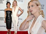 """NEW YORK, NY - APRIL 19:  Actresses Zoe Kravitz (L) and January Jones attend the premiere of """"Good Kill"""" during the 2015 Tribeca Film Festival at BMCC Tribeca PAC on April 19, 2015 in New York City.  (Photo by Jemal Countess/Getty Images for the 2015 Tribeca Film Festival)"""