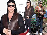 Picture Shows: Mickey Rourke  April 19, 2015    'Ashby' actor Mickey Rourke spotted out enjoying a coffee and a cigarette with a friend in New York City.    Non-Exclusive  UK RIGHTS ONLY    Pictures by : FameFlynet UK © 2015  Tel : +44 (0)20 3551 5049  Email : info@fameflynet.uk.com
