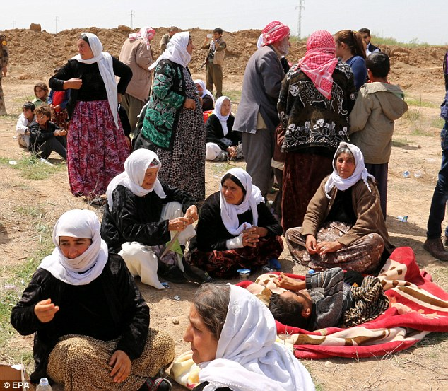 Rape and other forms of sexual violence committed during an armed conflict violate the laws of war. These women were part of a group of 216 Yazidis who were recently released by ISIS after being captured last year