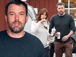 Scruffy Ben Affleck and makeup-free Jennifer Garner dress down for coffee