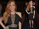 LONDON, ENGLAND - APRIL 21:  Lindsay Lohan attends the DSQUARED2 dinner in celebration of their new London Flagship opening at Loulou's on April 21, 2015 in London, England.   Pic Credit: Dave Benett