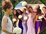 Honolulu, HI - Singer, Rihanna, inadvertently stole the spotlight from the bride when she looked breathtaking in her lavender bridesmaid gown.  She was seen walking down the aisle for her assistant, Jennifer Morales, wedding in a lavender tulle sleeveless dress with an intricate silver flower design and a small train behind it.  Rihanna has been in the tropical island to celebrate with her friends and was seen sipping on champagne seaside the day before the big wedding.\nAKM-GSI          April 20, 2015\nTo License These Photos, Please Contact :\nSteve Ginsburg\n(310) 505-8447\n(323) 423-9397\nsteve@akmgsi.com\nsales@akmgsi.com\nor\nMaria Buda\n(917) 242-1505\nmbuda@akmgsi.com\nginsburgspalyinc@gmail.com