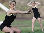 EXCLUSIVE ALL ROUNDER Danniella Westbrook seen working out with her personal trainer. The actress is clearly looking to put her troubles behind her following the recent arrest of ex-partner Tom Richards. It has been confirmed that Danniella will soon go back in to TV show Hollyoaks and looks to be fighting fit for the role, 22 April 2015. Please byline: Jason Mitchell/Vantagenews.co.uk 22 April 2015. Please byline: Vantagenews.co.uk