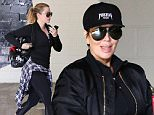 Please contact X17 before any use of these exclusive photos - x17@x17agency.com   Kris Jenner hits the gym in Beverly Hills sporting Kanye's Yeezus hat and jacket. April 22, 2015 X17online.com EXCLUSIVE