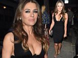 21 Apr 2015 - LONDON - UK  ELIZABETH HURLEY AND PIXIE LOTT ARE SEEN ARRIVING AT THE STORE LAUNCH FOR DSQUARED 2 HELD AT THEY NEW STORE IN LONDON. PIXIE WAS SEEN WEARING A BRIGHT RED DRESS AND LIZ WAS SEEN SHOWING OFF HER BRA AND LOTS OF CLEAVAGE. BYLINE MUST READ : XPOSUREPHOTOS.COM  ***UK CLIENTS - PICTURES CONTAINING CHILDREN PLEASE PIXELATE FACE PRIOR TO PUBLICATION ***  **UK CLIENTS MUST CALL PRIOR TO TV OR ONLINE USAGE PLEASE TELEPHONE   44 208 344 2007 **