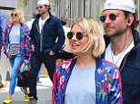 Bradley Cooper and American Sniper Co-star Sienna Miller were spotted walking through Soho in NYC on Tuesday. The famous pair laughed and Chatted as they walked through the crowded streets. They enjoyed the nice weather before heading to lunch together.\n\nPictured: Bradley Cooper, Sienna Miller\nRef: SPL1005314  210415  \nPicture by: 247Paps.TV / Splash News\n\nSplash News and Pictures\nLos Angeles: 310-821-2666\nNew York: 212-619-2666\nLondon: 870-934-2666\nphotodesk@splashnews.com\n