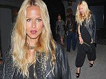 Rachel Zoe draped in leather jacket leaving  Craig's after dinner with her husband Rodger  April 21, 2015 X17online.com