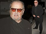 Veteran Hollywood actor, Jack Nicholson wearing red lens classes and a black suit was seen arriving at Mr. Chow Restaurant in Beverly Hills, CA  Pictured: Jack Nicholson Ref: SPL1004972  210415   Picture by: SPW / Splash News  Splash News and Pictures Los Angeles: 310-821-2666 New York: 212-619-2666 London: 870-934-2666 photodesk@splashnews.com