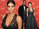 NEW YORK, NY - APRIL 21:  Kanye West (L) and Kim Kardashian attends the 2015 Time 100 Gala at Frederick P. Rose Hall, Jazz at Lincoln Center on April 21, 2015 in New York City.  (Photo by Andrew Toth/FilmMagic)