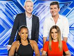 Television Programme: The X Factor with Singer Mel B, Manager Louis Walsh, Businessman Simon Cowell and Singer Cheryl Fernandez-Versini.   Embargoed to 0001 Tuesday August 26 Undated Thames TV handout photo of the new X-Factor judging panel of Mel B (front left), Louis Walsh (rear left), Simon Cowell (rear right) and Cheryl Fernandez-Versini (front right). PRESS ASSOCIATION Photo. Issue date: Tuesday August 26, 2014. See PA story SHOWBIZ XFactor. Photo credit should read: Tom Dymond/Thames TV/PA Wire NOTE TO EDITORS: This handout photo may only be used in for editorial reporting purposes for the contemporaneous illustration of events, things or the people in the image or facts mentioned in the caption. Reuse of the picture may require further permission from the copyright holder.