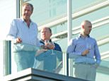 21.APRIL.2015 - LONDON - UK *** EXCLUSIVE ALL ROUND PICTURES *** AXED TOP GEAR PRESENTER JEREMY CLARKSON ENJOYS THE LONDON SUNSHINE AS HE LOOKED LIKE HE WAS HAVING A GREAT TIME ON TUESDAY AFTERNOON SHARING A BOTTLE OF WINE ON HIS BALCONY WITH FRIENDS BYLINE MUST READ : XPOSUREPHOTOS.COM ***UK CLIENTS - PICTURES CONTAINING CHILDREN PLEASE PIXELATE FACE PRIOR TO PUBLICATION *** **UK CLIENTS MUST CALL PRIOR TO TV OR ONLINE USAGE PLEASE TELEPHONE  442083442007