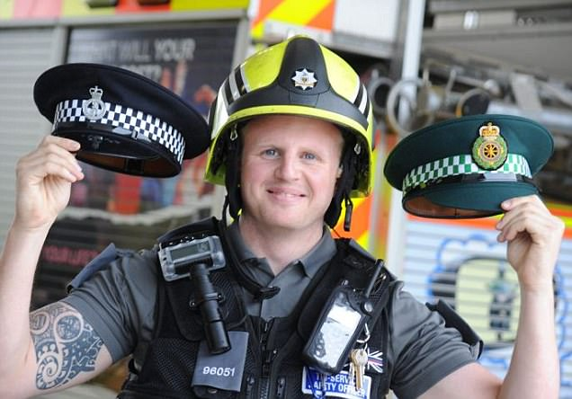 Meet the fireman who is also a paramedic and police officer