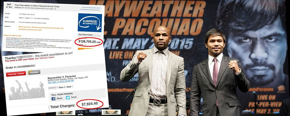 Floyd Mayweather vs Manny Pacquiao tickets sell out within 60 seconds on Ticketmaster