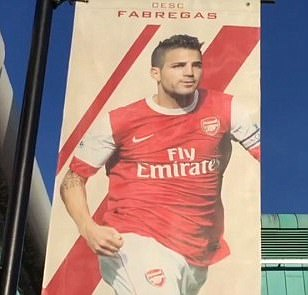 Arsenal fans call for removal of Emirates Stadium Cesc Fabregas flag ahead of Chelsea