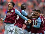 Aston Villa's English midfielder Jack Grealish celebrates Villa's second goal during the FA Cup semi-final between Aston Villa and Liverpool at Wembley stadium in London on April 19, 2015. AFP PHOTO / GLYN KIRK NOT FOR MARKETING OR ADVERTISING USE / RESTRICTED TO EDITORIAL USEGLYN KIRK/AFP/Getty Images