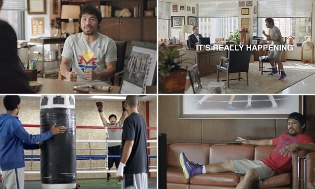 Manny Pacquiao shows his funny side by starring in hilarious new advert ahead of Floyd