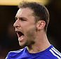 LONDON, ENGLAND - APRIL 18:  Branislav Ivanovic of Chelsea celebrates at the final whistle during the Barclays Premier League match between Chelsea and Manchester United at Stamford Bridge on April 18, 2015 in London, England.  (Photo by Jamie McDonald/Getty Images)
