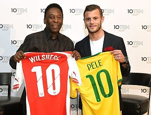 Jack Wilshere given the 'honour to interview the legendary Pele' at the launch of 10Ten
